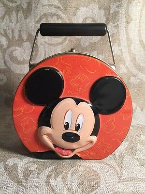 Walt Disney Mickey Mouse and Pals Collectible Tin Metal Lunch Pail Pale Box