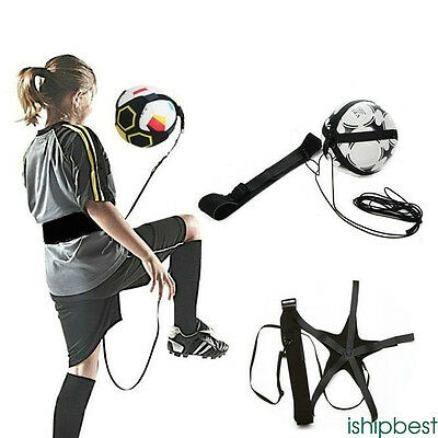 Football Soccer Kick Trainer Skills Practice Exercises Training Waist Belt child