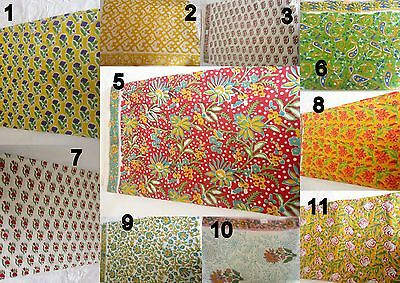 100 yard wholesale lot Indian Hand Made cotton fabric hand block print fabric lo