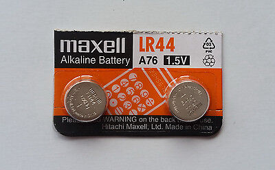 2x Maxell A76/LR44 1.5v Alkaline Batteries Expiry 11/2022 Post from MELB