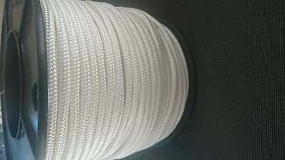 6MM Double Braided Rope Polyester Yacht Rope 90MTS White