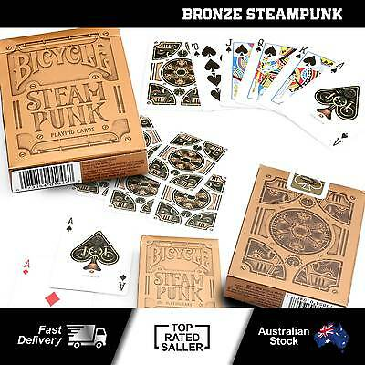 Bicycle Bronze Steampunk Playing Cards Single Deck Stunning Design Poker NEW