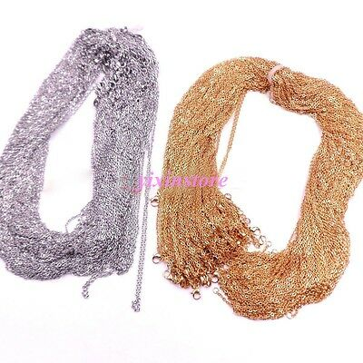 Wholesale In Bulk Hotsale Silver/Gold Stainless Steel Rolo Oval Chain Necklace