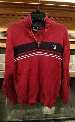 Polo men's sweater size medium, red