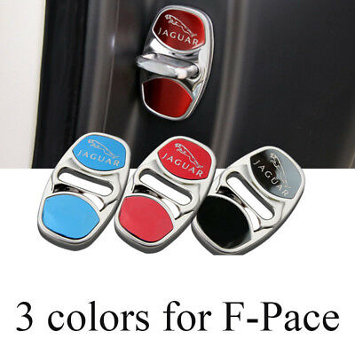 3 colors stainless steel door lock protective covers for Jaguar F-PACE f pace