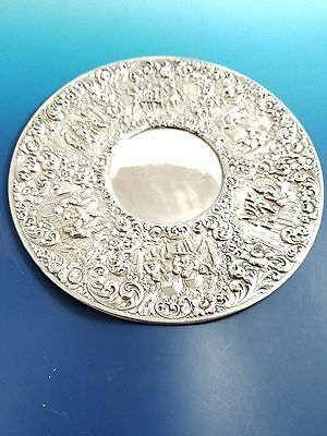 Beautiful Figural Silverplate Plate with Scenes of Village Life Made by Barbour