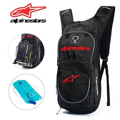 10L ALPINESTARS Red Hydration Water Bag Pack Cycling Hiking 2L Bladder Backpack
