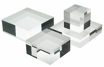 Acrylic Clear Perspex Block Thickness 1.5mm to 25mm Display Polished Edges