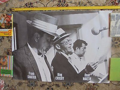 BING CROSBY_Frank Sinatra_Dean MARTIN_used poster_ships from AUS!_xx72_sh12