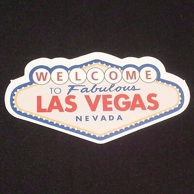 "LAS VEGAS NEVADA 2.5"" Inch Sticker Welcome to Fabulous Casino Road Trip"