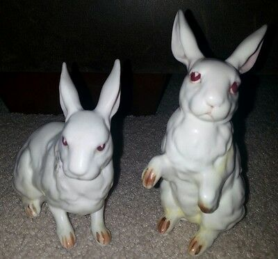 Ceramic White Rabbits