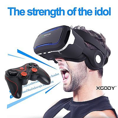 3D VR Headset with Controller Virtual Reality Glasses for Iphone 7 Plus Samsung