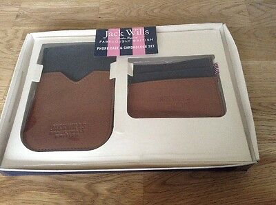 BNIB Jack Wills Harendale Part Leather Phone Case And Card Holder