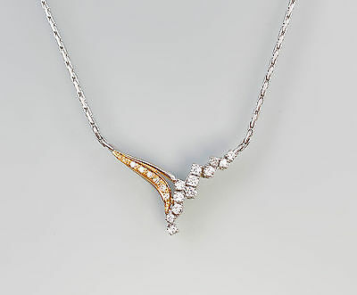 585er Gold Bicolor Brillant Collier 99825286