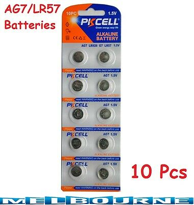 10Pcs AG7 LR57 LR926 G7 Button Cell Coin Alkaline Battery 1.5V Watch Toy PKCELL