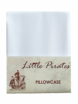 Brand New Baby Cot Bed Pillow Case 60 x 40 - 100% Luxury Cotton - White