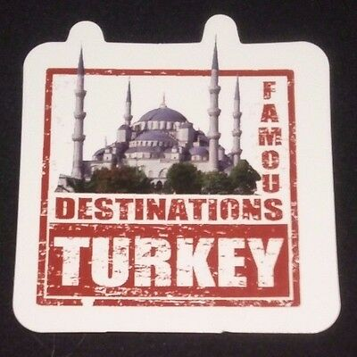 "TURKEY 3"" Waterproof Sticker Travel Suitcase Famous Destinations Süleymaniye"