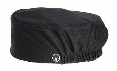 Chef Works Total Cool Vent Fabric Beanie Elastic Back Scull Cap Black Unisex