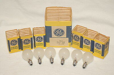 Lot of six (6) BLK Photo Copy S11 GE Frosted Lamps Bulbs - 120-130V, 30W - NOS