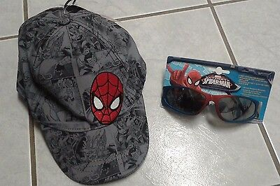 Kids Boys Spiderman Baseball Hat and Sunglasses NWT