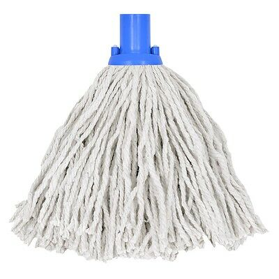 5 x 14oz Socket Mop Head Blue Floor Cleaning Industrial Heavy Duty Colour Coded