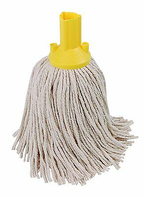 14oz Socket Mop Head Yellow Floor Cleaning Industrial Heavy Duty Colour Coded