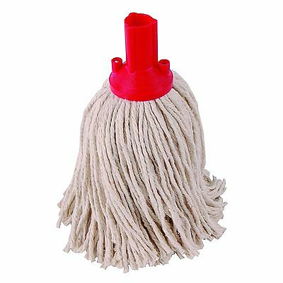 5 x 14oz Socket Mop Head Red Floor Cleaning Industrial Heavy Colour Coded