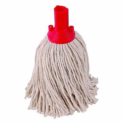 5 x PY14 Socket Mop Head Red Floor Cleaning Industrial Heavy Colour Coded