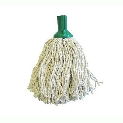 5 x 14oz Socket Mop Head Green Floor Cleaning Industrial Heavy Colour Coded