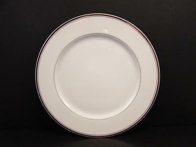 "Sincerity by Imperial 7-3/4"" Salad Plate Platinum Line Verge Platinum Trim b71"