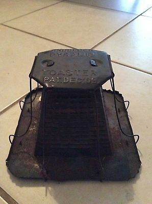 Vintage 1909 Knoblock Antique Primitive Metal Camp Fire Bread Toaster VERY COOL