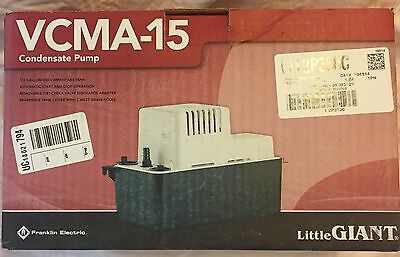 Franklin Electric Vcma-15 Condensate Pump 115 Volt With Secondary Safety Switch