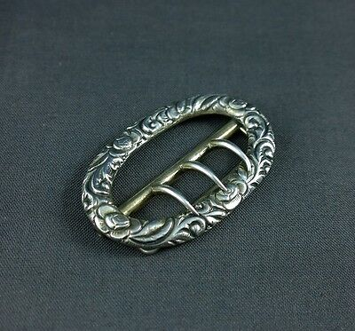 Antique Sterling Silver Gorham Buckle #193 Floral 20.61 Grams