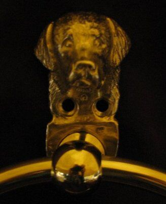BERNESE MOUNTAIN DOG Bronze Towel Ring!