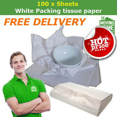 Moving home packing paper 100 sheets (Free delivery)