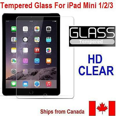 NEW TEMPERED GLASS SCREEN PROTECTOR FOR iPad Mini 1,2 & 3 - ULTRA CLEAR