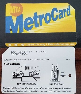 NYC Metrocard extremely RARE variation
