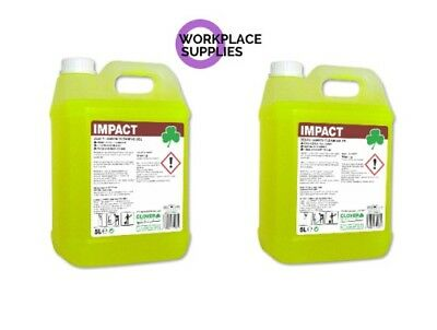 Clover Impact Lemon Floor Gel Cleaner Cleaning Concentrate 10Ltr Free P&P 111