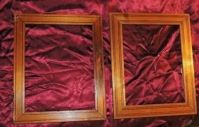 A Pair of 19th Century French Picture Frames, Lovely Wood