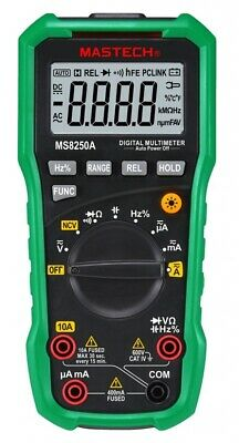 Multimetro Digital Auto Rango Mastech Ms8150A, Frequencia, Y Capacimetro Cat3 Ca