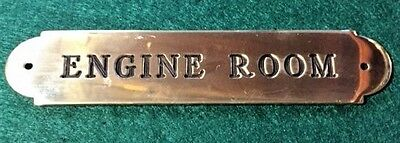 Ships Engine Room Plaque Sign Solid Brass