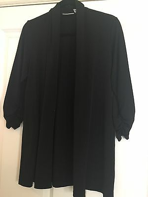 Woman's Susan Graver Brand Open Front Cardigan Size Small 3/4 Sleeve