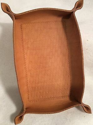 """Hand Crafted Leather Valet Tray 8"""" x 5.5"""""""