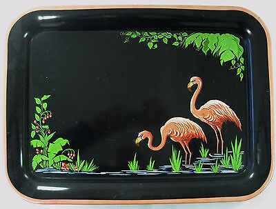 Vintage Flamingo Serving Tray from the 50s - 60s