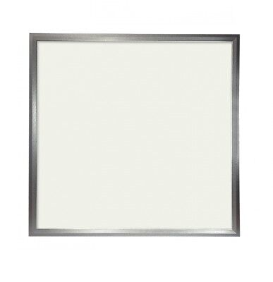 Panel LED Slim 60x60cm 48W Marco Plata 4500 LUMENS COLOR Blanco FRIO 6000K(drive