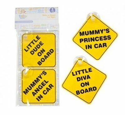 Baby On Board Child Safety Suction Cups Car Vehicle Signs Child On Board