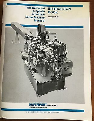 Davenport- 5 Spindle Screw Machine Model B instruction book