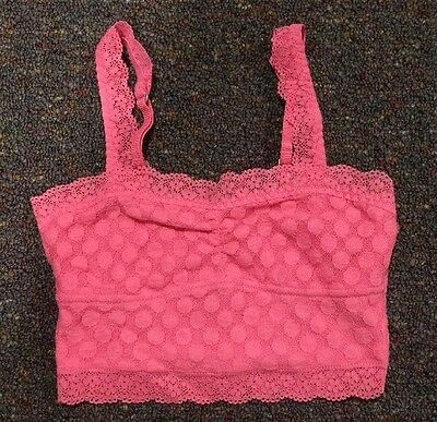 abercrombie kids Pink Lace Bandau With Adjustable Straps Size Small