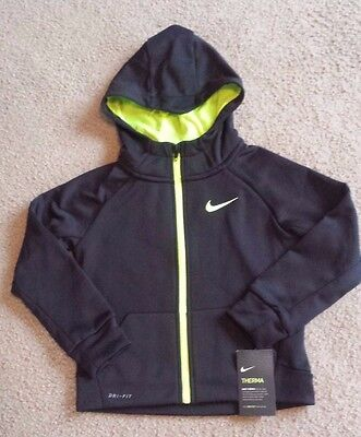 Youth Nike Thema Fit *with Dri Fit Tech* Zipper Front Hooded Sweatshirt Sz 5 Nwt