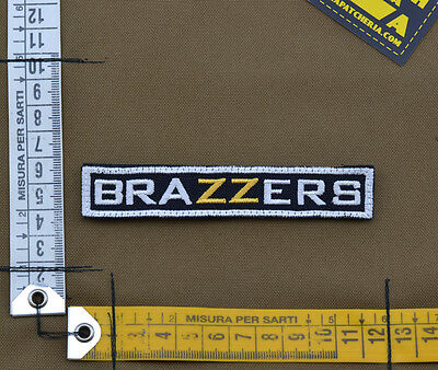 "Ricamata / Embroidered Patch ""Brazzers"" Black with VELCRO® brand hook"